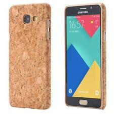 Samsung Galaxy A3 (2016)  CORCHO FUNDA MADERA NATURAL HARD CASE CASO COVER CAJA