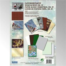 Kartenkarton - Papiersortiment - Weihnachten Ed. IV  - 18 Bögen + Mini-Umschläge