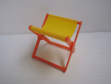Accessoire big jim Karl May Mattel : fauteuil camping jaune orange - ref 295