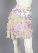Emanuel Ungaro Roccoco Pastels Floral Print Chiffon Skirt