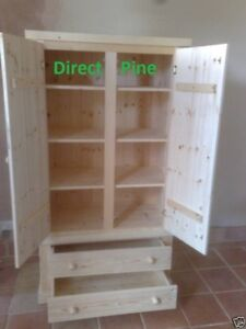WENTWORTH PANTRY LARDER PROVISIONS CUPBOARD 2 DWR 3 SHELVES NO FLAT PACKS