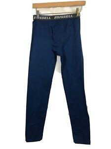 Base Layer Russell Boy L 10/12 Long Underwear Blue long johns winter warmth