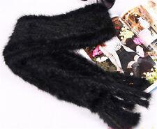 Super Modern Knitted Farm Mink Fur Scarf Cape Stole Shawl Wrap Free Size Fit All