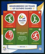 Guyana 2016 MNH Olympic Games Rio 2016 4v MS II Football Diving Olympics Stamps