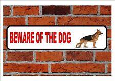 German Shepherd Beware of the Dog  Design Metal Door Sign