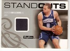 DERON WILLIAMS GAME-USED JERSEY 2008-09 SKYBOX STANDOUTS SO-DW UTAH JAZZ NETS