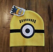 NEW Universal DESPICABLE ME Minions Kids Hat Knit MINIONS Beanie Hat Boys GIrls