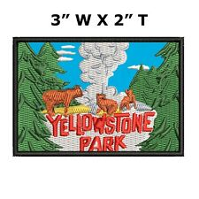 Yellowstone National Park Embroidered Patch Iron-On Sew-On Decorative Applique