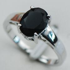 Black onyx Silver Filled Gemstone Ring Size 12 PR12