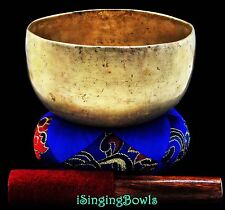 "Antique Tibetan Singing Bowl: Thado 6 5/8"", ca. 17th C., G3 & C#5. VIDEO"
