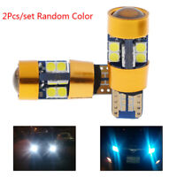 2x Amber T10 15W 3030 19SMD Canbus Error Free LED Parking Light Lamp Bulb XUAN