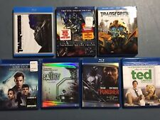 Blu-Ray Lot of 7 Titles - Transformers, Ted, The Punisher, Star Trek & More