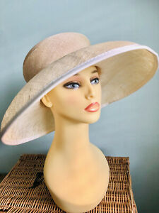 Ladies Lovely Ivory Special Occasion Hat Wedding Formal Event By Hat Box