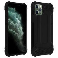 Coque Apple iPhone 11 Pro Design Relief Bi-matière Robuste Antichute 1,8m noir