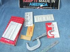 Starrett 585ma P 50mm Thread Micrometer 45 6 Vintage Toolmaker Thred Inspection