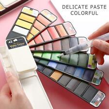 18/25/33/42 Palm-Sized Foldable Watercolor Palette Colors With Pen