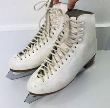 Vintage Riedell Women USA Ice Skates England Sheffield Steel John Wilson Sz 7