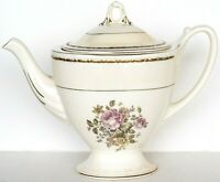 Rare Homer Laughlin Eggshell GEORGIAN Footed Teapot w/Lid USA Circa '40's MINT