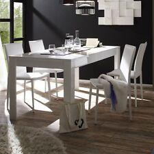 Tavolo da pranzo fisso moderno Sorrento bianco lucido sala soggiorno salotto