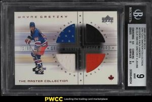2000 Upper Deck Master Collection Wayne Gretzky PATCH /99 #19 BGS 9 MINT