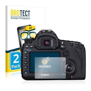 Schutzfolie Transparent für Canon EOS 5D Mark III Klar Displayschutzfolie 2x