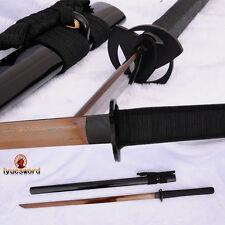 Handmade Japanese Samurai Ninja Sword Damascus Folded Steel Blade Sharp FullTang