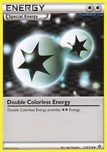 DOUBLE COLOURLESS ENERGY 113/113 - LEGENDARY TREASURES POKEMON TRAINER CARD