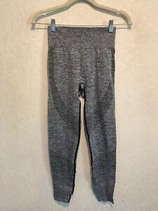Victoria Secret PINK Seamless Leggings Size SMALL Gray Compression Sport EUC