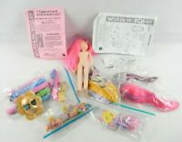 Mattel What's Her Face doll lot clothes shoes stampers markers and more 50 pcs.