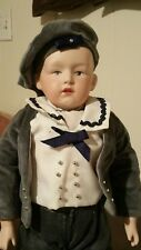"14"" Heubach Pouty Face Boy Character Bisque Doll Reproduction #320 Intaglio Eyes"