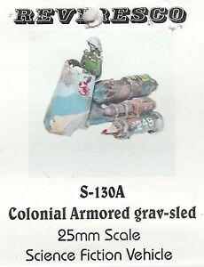 Armoured Grav Sled  Luftgleiter - Zinnbausatz  Starguard Colonial SciFi 1:72