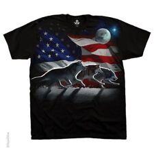 Southwestern Design American Wolf T-Shirt United States