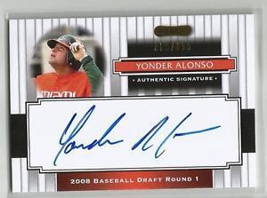 2008 Razor Yonder Alonso auto RC 309/699 Chicago White Sox