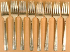 Caprice Oneida Nobility Plate Silverplate 8 Salad Forks 1937