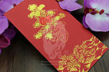 Birthday and Longevity - Lucky Money Money Envelope Red Packet (Pack of 10)