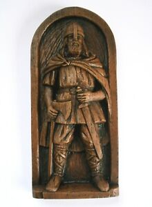 Viking Warrior Pagan Norse Gift Hand Crafted Ornament Ragnar Scandinavian Plaque