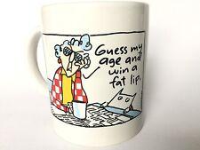 VINTAGE HALLMARK SHOEBOX MAXINE COFFEE CUP MUG GUESS MY AGE AND WIN A FAT LIP