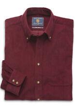 Brook Taverner Men's Berry Button Down Collar 100% Cotton Cord Shirt Casual