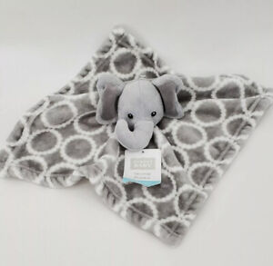 Hudson Baby Boy Or Girl Unisex Security Blanket, Elephant Face Gray New W/Tags