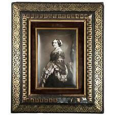 Antique French Photo Technique, Enamel on Convex Plaque, 1/2 Plate Daguerreotype