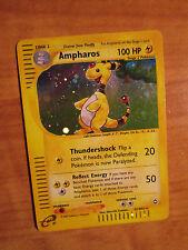 PL E-Reader AMPHAROS Pokemon Card AQUAPOLIS Set H1/H32 Ultra Rare Star Holo TCG