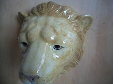 Lion Wall Vase Plant Pot Glazed Ceramic By Quail Pottery Boxed Ideal Gift