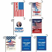 Trump 2020 Keep America Great Flag Garden Supporting Decor Ornaments 2 Sides