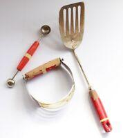 Vintage A & J Kitchen Tools Set Dough Blender Spatula spoon