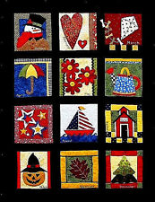 New Calendar Quilt Pattern  Complete BLOCK OF THE MONTH  IT'S A GOOD YEAR
