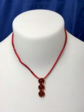 Lalique Oxygene Pendentif Rouge - Crystal Pendant red 77151 Collana necklace NEW