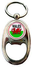 Welsh Red Dragon Wales National Flag Oval Bottle opener Keyring Charm