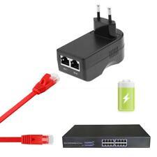 Inyector Poe Enchufe de Pared 24 V 0.5 A Adaptador Ethernet Teléfono Ip/fuente de alimentación de la Cámara