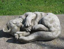 Stone Cat Asleep Statue