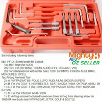 12pc Air Bag Removal Kit Hex Torx Airbag Disconnection Tool VW Audi BMW Mercedes